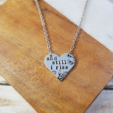 And Still I Rise Heart Necklace