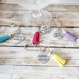 Wine Themed Wine Charms