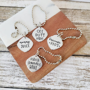Mom Themed Wine Charms