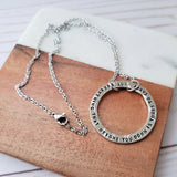 Not Everything That Weighs You Down Is Yours To Carry Pewter Washer Necklace