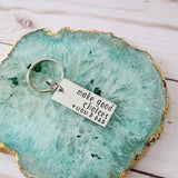 Make Good Choices <3 mom & dad Keychain