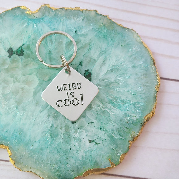 Weird Is Cool Keychain