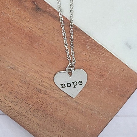 Nope Heart Shaped Necklace