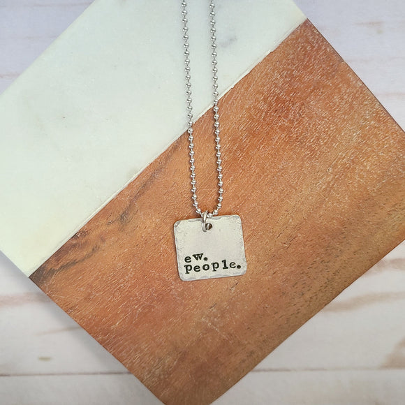 Ew People Square Necklace