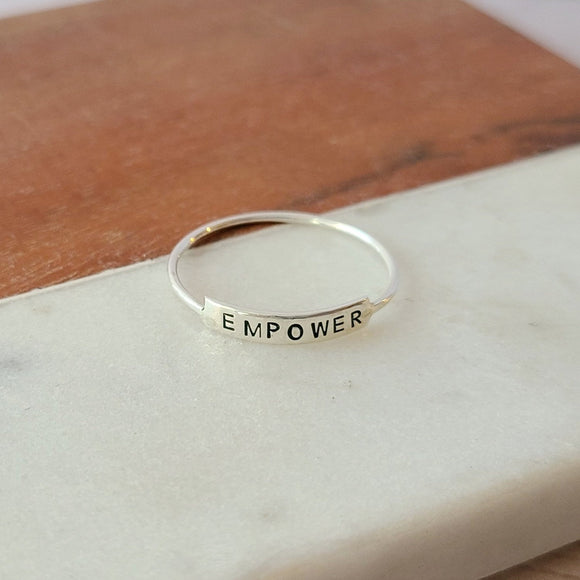 Sterling Silver Thin Tab Ring