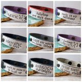 Leather Cuff Bracelet - Choose Your Message
