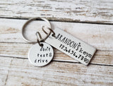 Personalized New Driver Keychain with Name and Phone Number