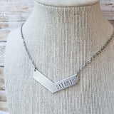 Dream Big Handstamped Chevron Necklace