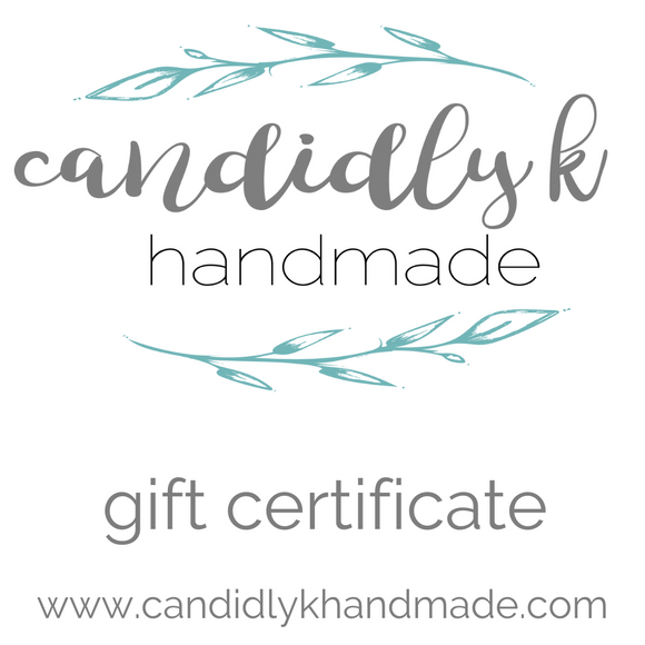 Candidly K Handmade Gift Card