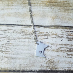 Mini MN Hand Cut Necklace