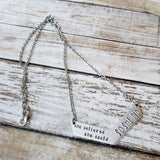 She Believed She Could So She Did Handstamped Chevron Necklace