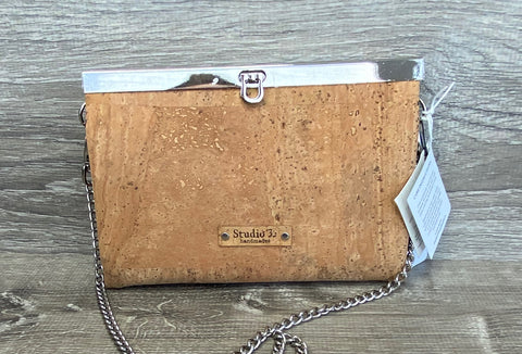 Natural Cork Roxy Convertible Clutch