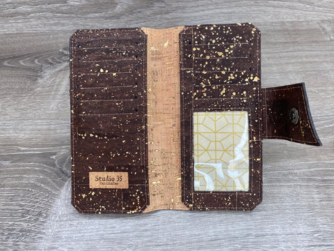 Natural w/Gold Fleck Nicole Cork Wallet