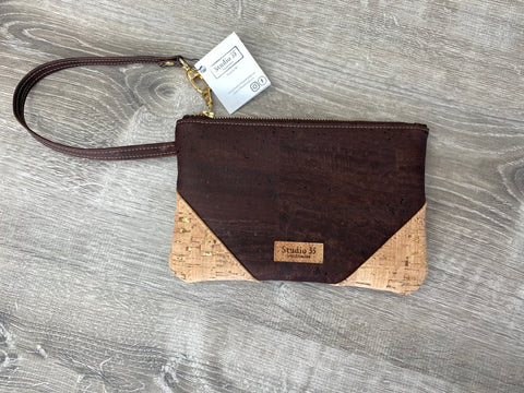Cork Wristlet - Chocolate