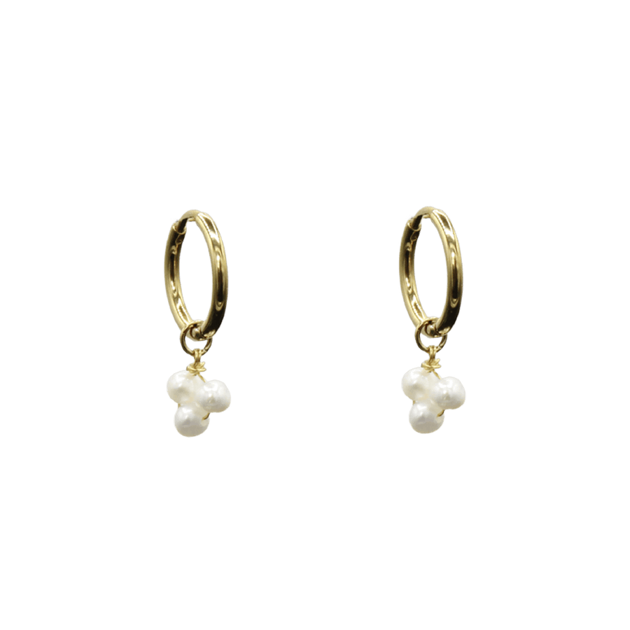 Three Pearl Grapes Earrings