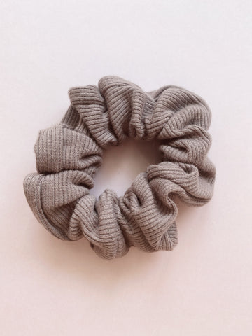 Cacao Rib Cotton Scrunchie