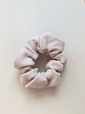 Light Rose Rib Cotton Scrunchie