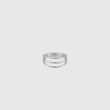 Simple Ring Trible in Silver