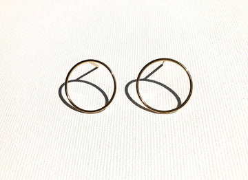 Billabong Circle Earrings in Gold
