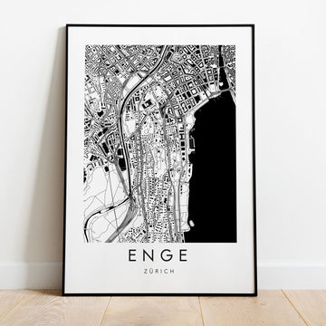 Zürich Enge Map
