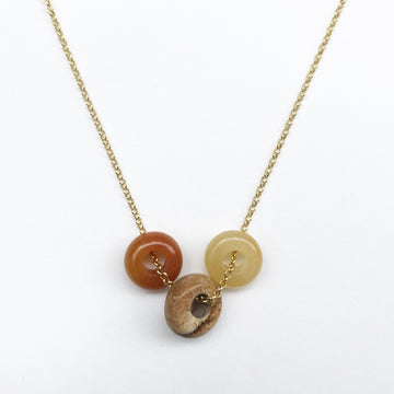 Fruit Loop Necklace Orange Mix in Gold