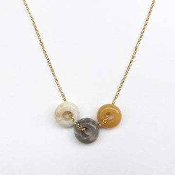 Fruit Loop Necklace Pineapple Mix in Gold