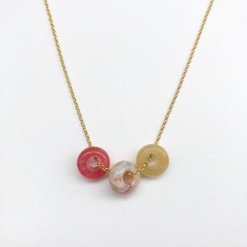 Fruit Loop Necklace Cherry Mix in Gold