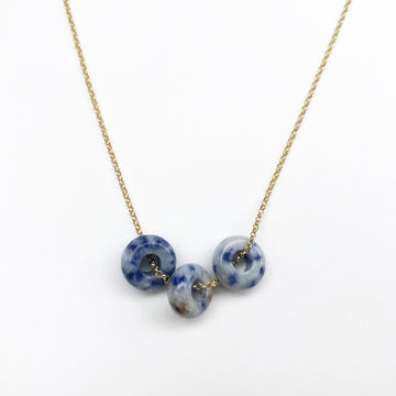 Fruit Loop Necklace Blueberry in Gold