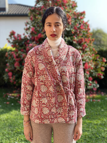 Red Kantha Jacket