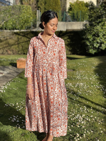 Maya Dress in Peach