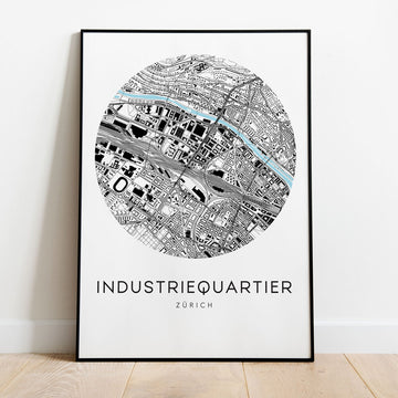 Zürich Industriequartier Map