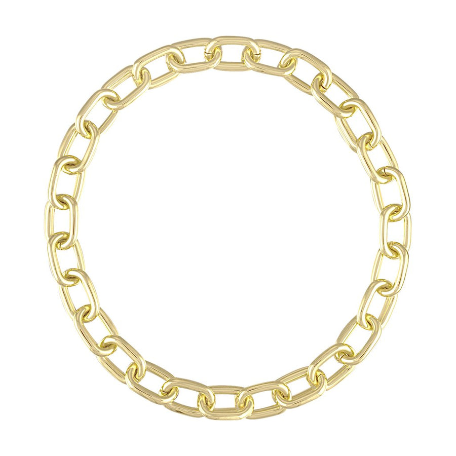 Interchangeable Statement Link Necklace in 14k Gold