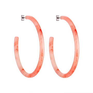 Large Hoops in Bright Pink