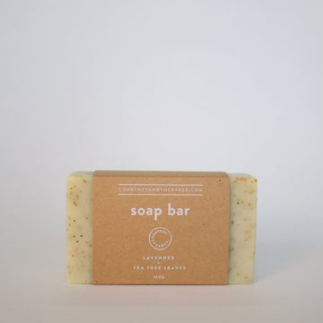 Lavender + Tea Tree Leaves Soap Bar