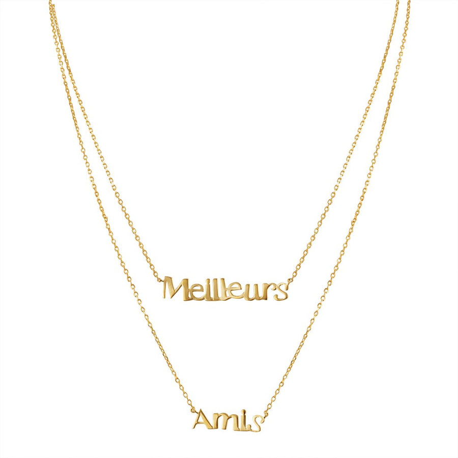 Meilleurs Amis / Best Friend Necklace in Gold