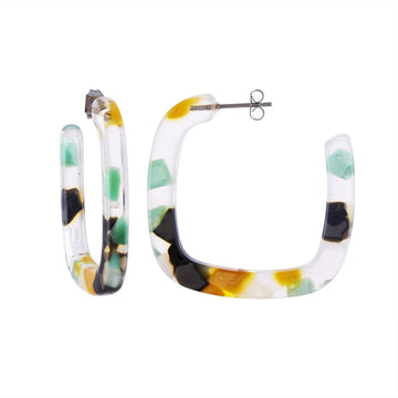 Midi Square Hoops in Meadow