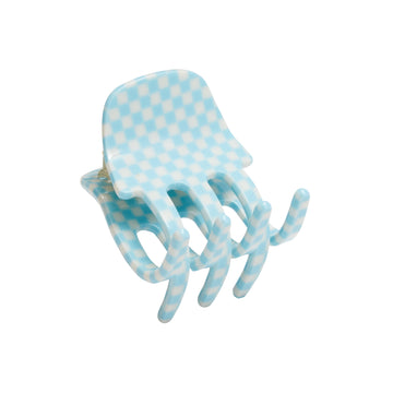 Mini Claw in Blue Checker