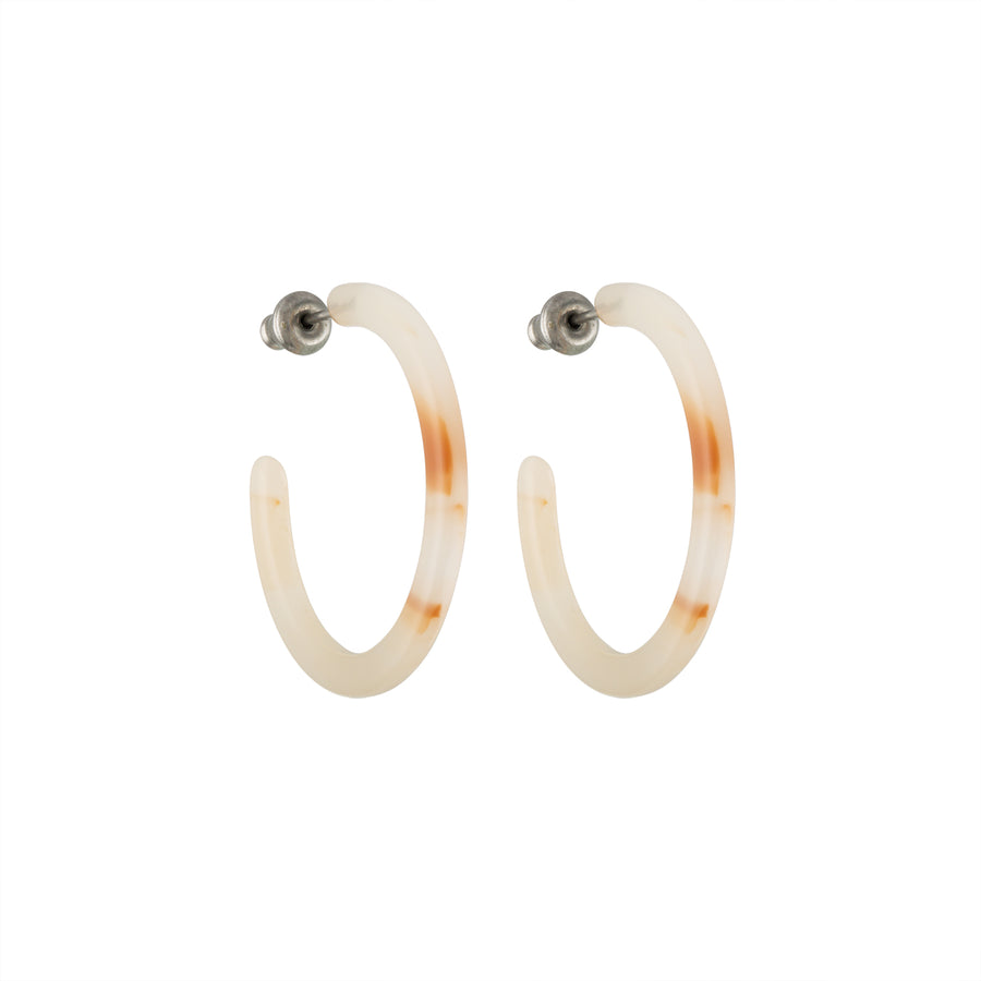 Mini Hoops in Peach