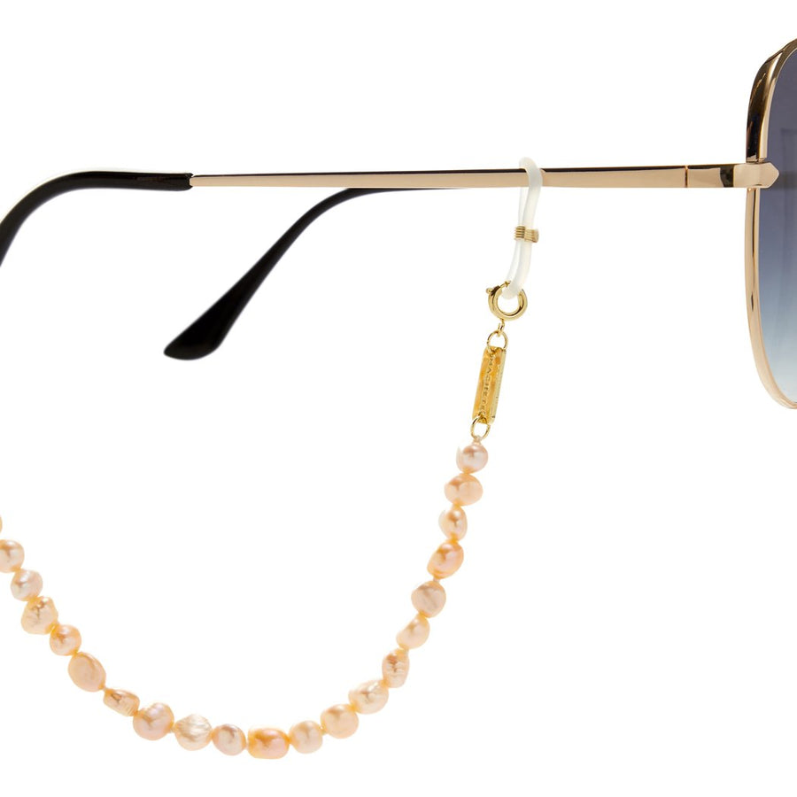 Mixed Freshwater Pearl Sunglass Chain in Yellow + Pink