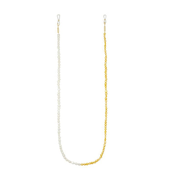 Mixed Freshwater Pearl Sunglass Chain in Yellow + White