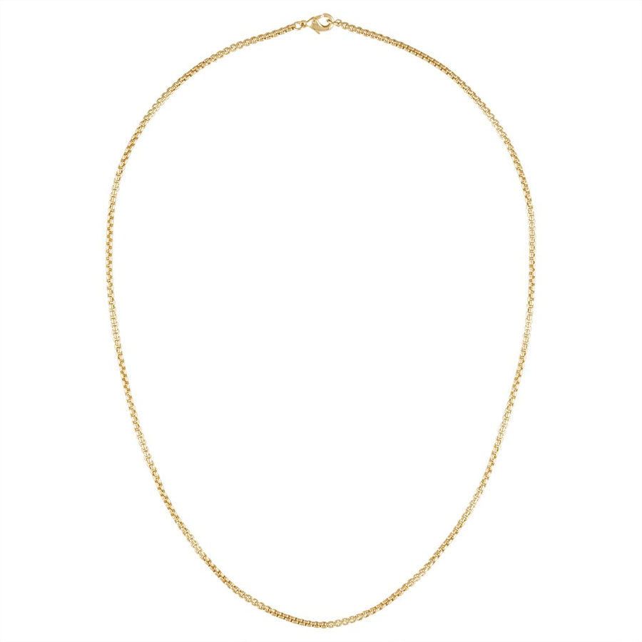 Petite Box Chain Necklace in Gold