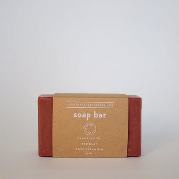 Rose Geranium + Sandalwood + Red Clay Soap Bar