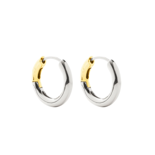 Hinge Hoops in 3/4 Silver