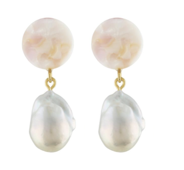 Baroque Pearl Drops in Lavender
