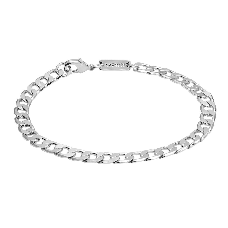 Small Curb Chain Bracelet in Silver