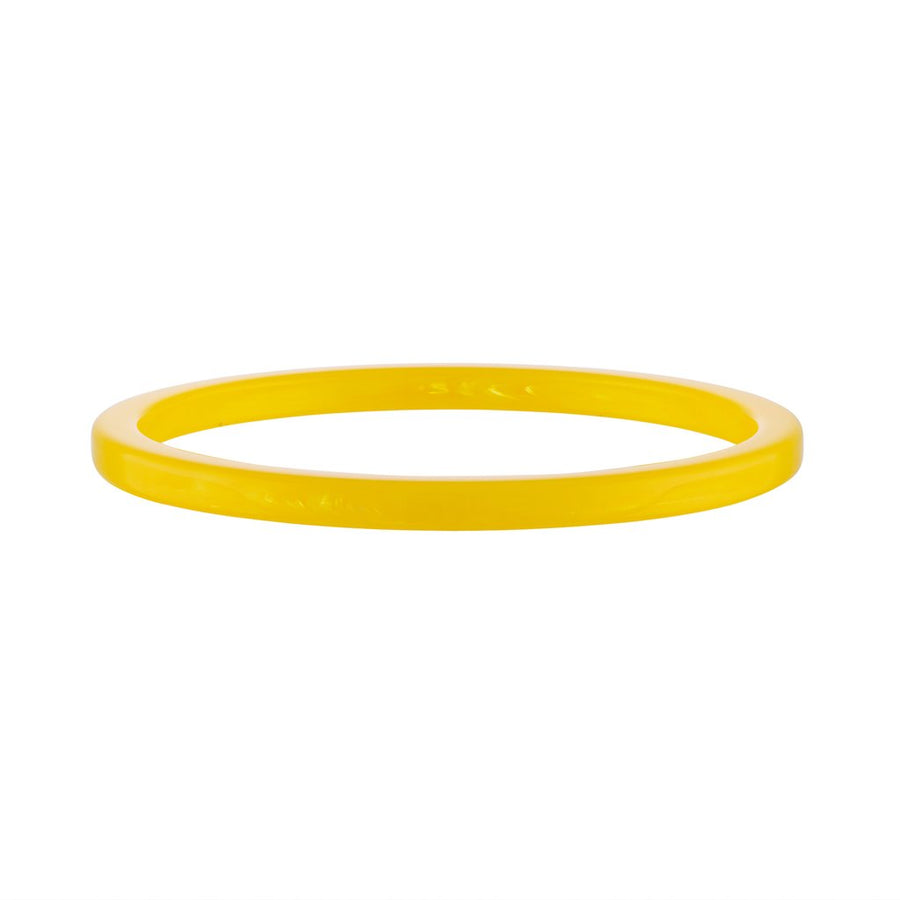 Square Bangle in Yellow