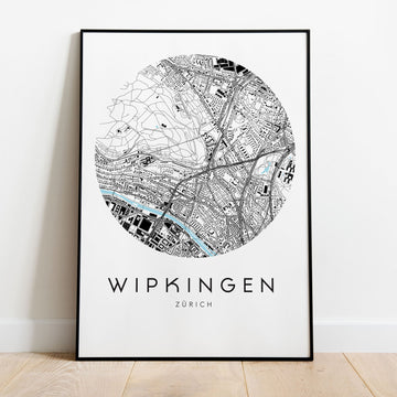 Zürich Wipkingen Map
