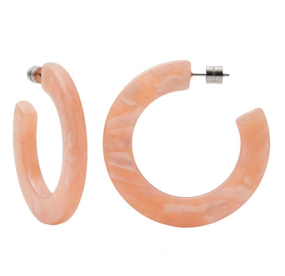 XL Kate Hoops in Cosmic Pink