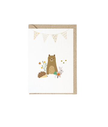 Greeting Card Animal Party
