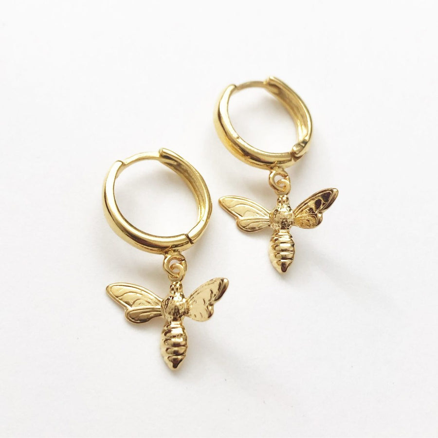Bee Earrings in Gold